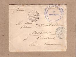 """MADAGASCAR - LETTRE TANANARIVE POUR LOUBENS , CACHET MILITAIRE + PAQUEBOT """" LA REUNION MARSEILLE 1° L. U. N° 2 """" - 1901 - Madagascar (1889-1960)"""