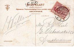 25.5.07 Langebalk OVERVEEN 2 Op NVPH88 Op Ansicht Naar Amsterdam - Periode 1891-1948 (Wilhelmina)