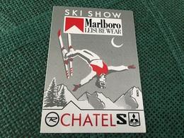 Autocollant Ski Show Marlboro Chatel - Autocollants