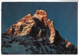 Valle D'Aosta Il Monte Cervino Tramonto Viaggiata 1974 - Italy