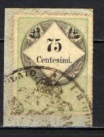 LOMBARDO VENETO - 1858 - 75 CENTESIMI - FISCALE - USATO - Lombardy-Venetia
