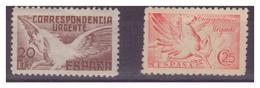 SPAGNA - 1938 E 1941 - DUE VALORI ESPRESSI CON DIFETTI. - MNH** - 1931-Oggi: 2. Rep. - ... Juan Carlos I