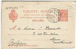EP A MONS 1913 TARJETA ENTERO POSTAL SPAIN STATIONERY CARD - 1850-1931