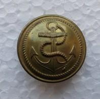 - Ancien Bouton Militaire - Ancre De Marine - - Boutons