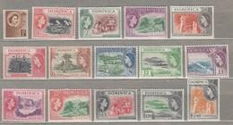 DOMINICA 1954 MNH/VLH (**/*) Mi 138-152 SG 140-158  #23314 - Dominique (...-1978)