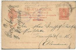 BARCELONA A FRANKFURT 1902 TARJETA ENTERO POSTAL SPAIN STATIONERY CARD - 1850-1931
