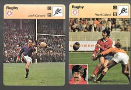 GF347 - FICHE EDITION RENCONTRE - RUGBY - JACK CANTONI - HENRI CABROL - AS BEZIERS - Rugby