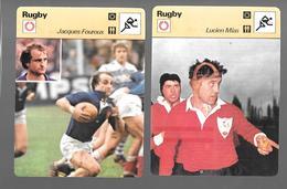 GF355 - FICHES EDITION RENCONTRE - RUGBY - JEAN-PIERRE BASTIAT - PIERRE ALBALADEJO - LUCIEN MIAS - JACQUES FOUROUX - Rugby