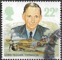 GREAT BRITAIN 1986 History Of The Royal Air Force - 22p - Lord Tedder And Hawker Typhoon IB AVU - Used Stamps