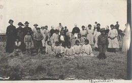 Real Photo Post Card Of A Group Of Natives Vermilion, Alberta - Native Americans