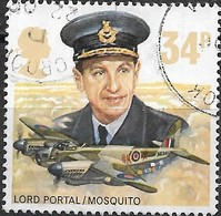 GREAT BRITAIN 1986 History Of The Royal Air Force - 34p - Lord Portal And De Havilland DH98 Mosquito FU - Used Stamps