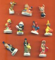 Lot De 10 Feves Porcelaine De Series Télévisées Diverses - Cartoons