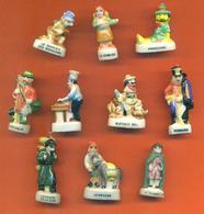 Lot De 10 Feves Porcelaine De Metiers Et Personnages Divers - Dibujos Animados