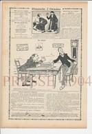 2 Scans Presse 1904 Humour Jeu De Cartes Ancien Joueur De Piquet / Manillon / Octobre Semailles Semeur Champ 223CH9 - Vieux Papiers
