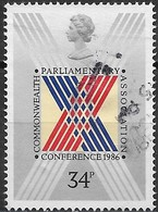 GREAT BRITAIN 1986 32nd Commonwealth Parliamentary Association Conference - 34p Stylized Cross On Ballot Paper FU - Used Stamps