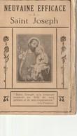 Neuvaine Efficace - A - Saint Joseph  25 Pp  Brochure  Livret - Religion