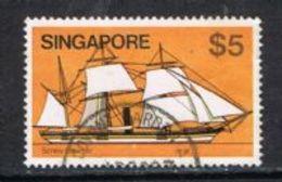 Singapore SG375 1980 Definitive $5 Good/fine Used FILLER [15/14325/2D] - Singapore (1959-...)