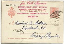 BARCELONA A ANVERS 1888 TARJETA ENTERO POSTAL SPAIN STATIONERY CARD TARJETA RESPUESTA - 1850-1931