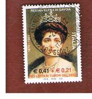 ITALIA REPUBBLICA  -  2002  REGINA ELENA (CON SOVRAPREZZO)               - USATO ° - 1946-.. République