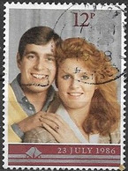 GREAT BRITAIN 1986 Royal Wedding - 12p Prince Andrew And Miss Sarah Ferguson AVU - Used Stamps