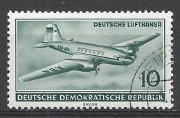 German Democratic Republic 1956. Scott #281 (U) Lufthansa Plane * - [6] Democratic Republic
