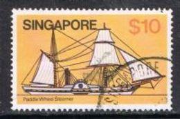 Singapore SG376 1980 Definitive $10 Good/fine Used FILLER [15/14326/2D] - Singapore (1959-...)