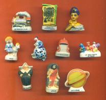 Lot De 10 Feves Porcelaine 3D Diverses - Otros