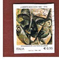 ITALIA  - 2016   UMBERTO BOCCIONI: DIPINTO   -   USED - 6. 1946-.. Republic
