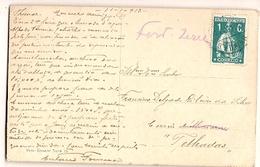 Portugal & Marcofilia, Paisagem, Voro-Gravure, Tomar, Alvaiázere Telhadas Portugal 1913 (15) - 1910-... Republic