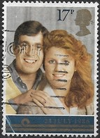 GREAT BRITAIN 1986 Royal Wedding - 17p Prince Andrew And Miss Sarah Ferguson FU SLIGHT CREASE - Used Stamps