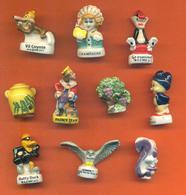 Lot De 10 Feves Porcelaine 3D Diverses Dessins Animés - Cartoons