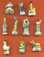 Lot De 10 Feves Porcelaine 3D Diverses - Characters