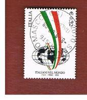 ITALIA REPUBBLICA  -  2002  ITALIANI NEL MONDO   - USATO ° - 1946-.. République