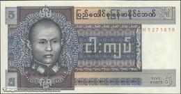 TWN - BURMA 57 - 5 Kyats 1973 Prefix IH UNC - Myanmar