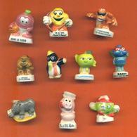 Lot De 10 Feves Porcelaine 3D Animaux Divers - Animals