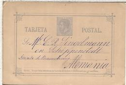 VALENCIA  TARJETA ENTERO POSTAL SPAIN STATIONERY CARD VARIEDAD SR ROTO - 1850-1931
