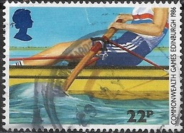 GREAT BRITAIN 1986 13th Commonwealth Games. Edinburgh - 22p - Rowing FU - Used Stamps
