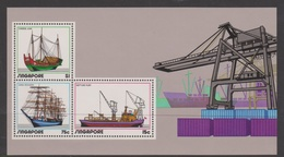 Singapore S72-5M 1972 Shipping, Miniature Sheet Mint Never Hinged - Singapore (1959-...)
