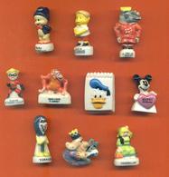 Lot De 10 Feves Porcelaine 3D Dessins Animées Et Divers Disney - Cartoons