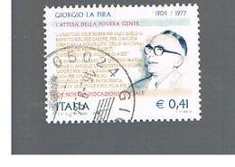ITALIA REPUBBLICA  -  2004    GIORGIO LA PIRA        - USATO ° - 6. 1946-.. Repubblica