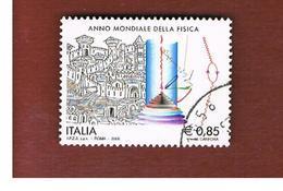 ITALIA REPUBBLICA  -   2005   ANNO DELLA FISICA                 -   USATO  ° - 6. 1946-.. Repubblica