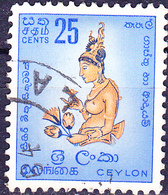 Ceylon - Wolkenmädchen, Freske Vom Sigiriya-Fels (MiNr: 301) 1958 - Gest Used Obl - Sri Lanka (Ceylan) (1948-...)