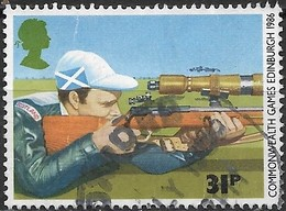 GREAT BRITAIN 1986 13th Commonwealth Games. Edinburgh - 31p - Rifle Shooting FU - Used Stamps