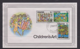 Singapore S77-7M 1977 Children's Art, Miniature Sheet Used - Singapore (1959-...)
