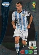 CARTE PANINI ADRENALYN COUPE DU MONDE FIFA BRESIL 2014 ARGENTINE JAVIER MASHERANO EXPERT - Trading Cards