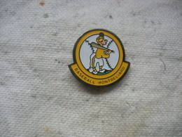 Pin's D'un Joueur De Baseball De La Ville De Montbéliard - Baseball