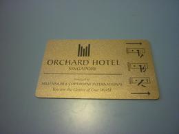 Singapore Milennium Orchard Hotel Room Key Card - Cartes D'hotel
