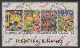 Singapore S89-5M 1989 Festival Of Singapore, Miniature Sheet Used - Singapore (1959-...)