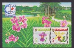 Singapore S91-2M 1991 Singapore'95 Orchids, Miniature Sheet Mint Never Hinged - Singapore (1959-...)