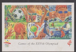 Singapore S92-3M 1992 Olympic Games Barcelona, Miniature Sheet Mint Never Hinged - Singapore (1959-...)